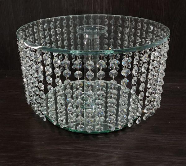 C201 Crystal cake stabd cascade 35cm