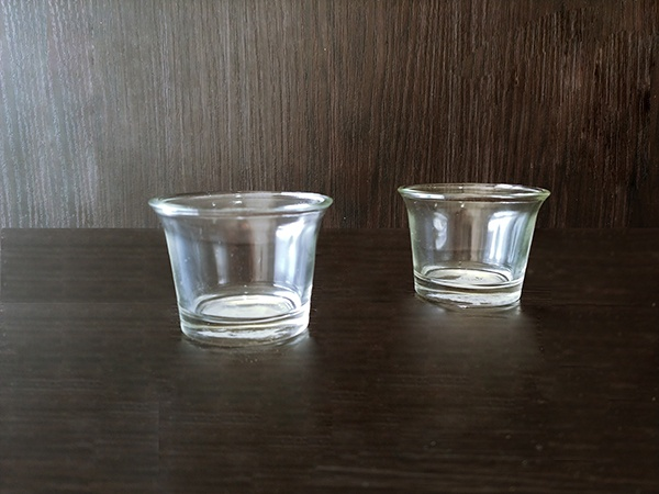 Glass – Small Candle holder Short Clear