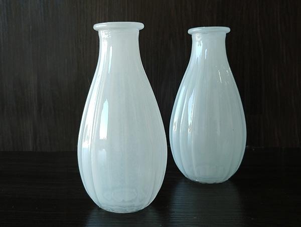 Glass – Vase White Pale