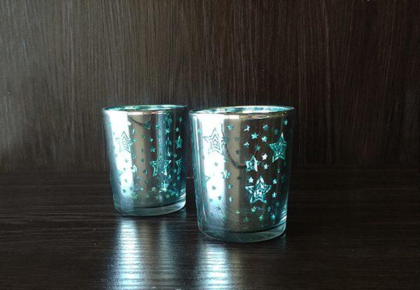 Glass – Votive Blue Stars