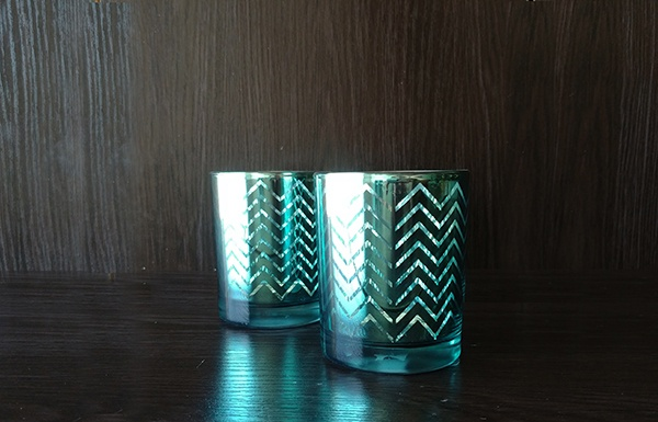Glass – Votive Blue Zigzag