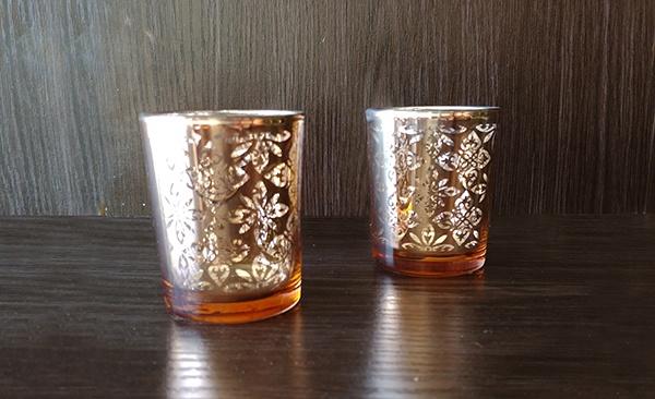 Glass – Votive Orange Pattern
