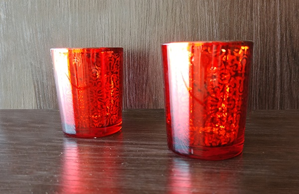 Glass – Votive Red