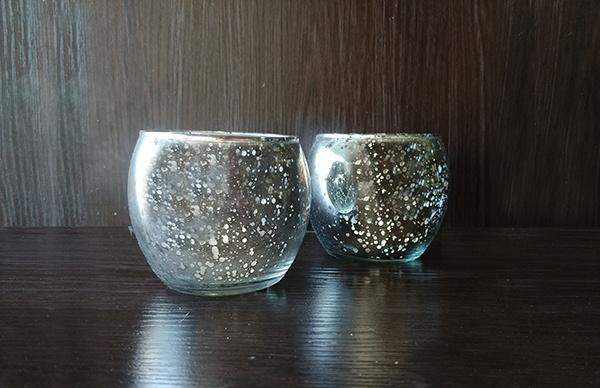 Glass – Votive Round Speckled