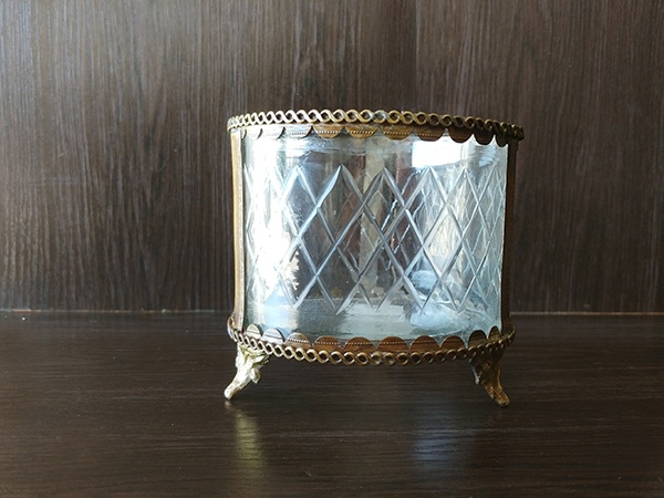 Gold – Decorative Vase With Glass Large