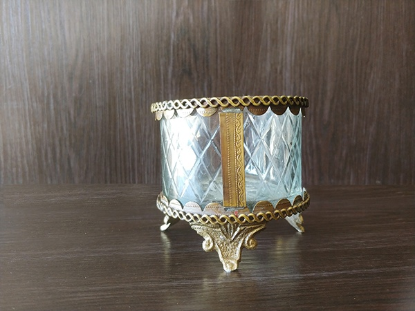 Gold – Decorative Vase With Glass Small