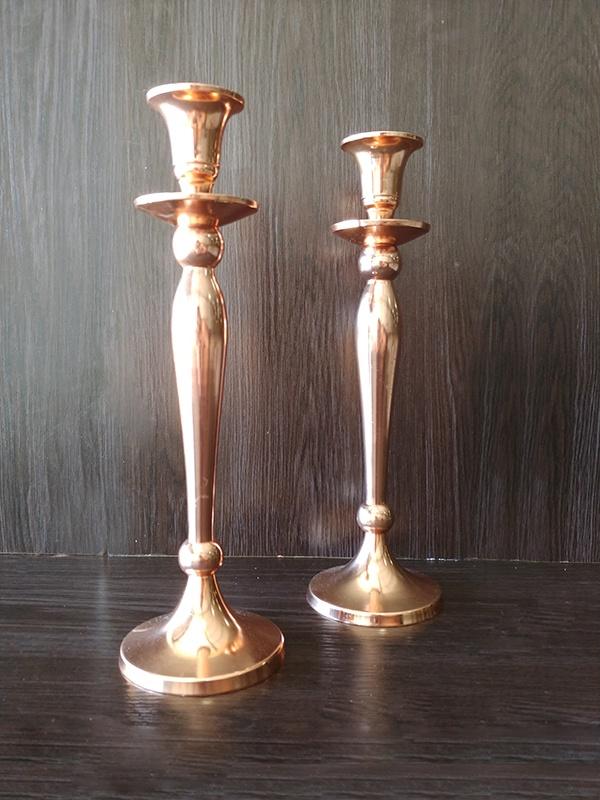 Rose Gold – Candle Sticks Large