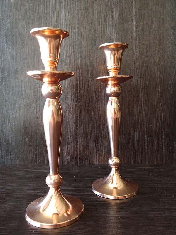 Rose Gold – Candle Sticks Small
