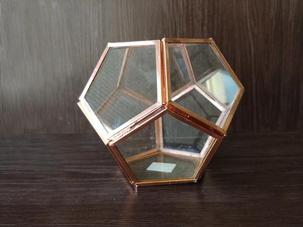 Rose Gold – Diagonal Bowl Abstract Medium