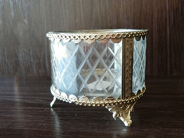 Silver – Decorative Vase With Glass Small Large