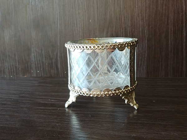 Silver – Decorative Vase With Glass Small Short