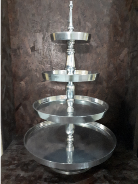 SIVER 4 TIER CAKE STAND
