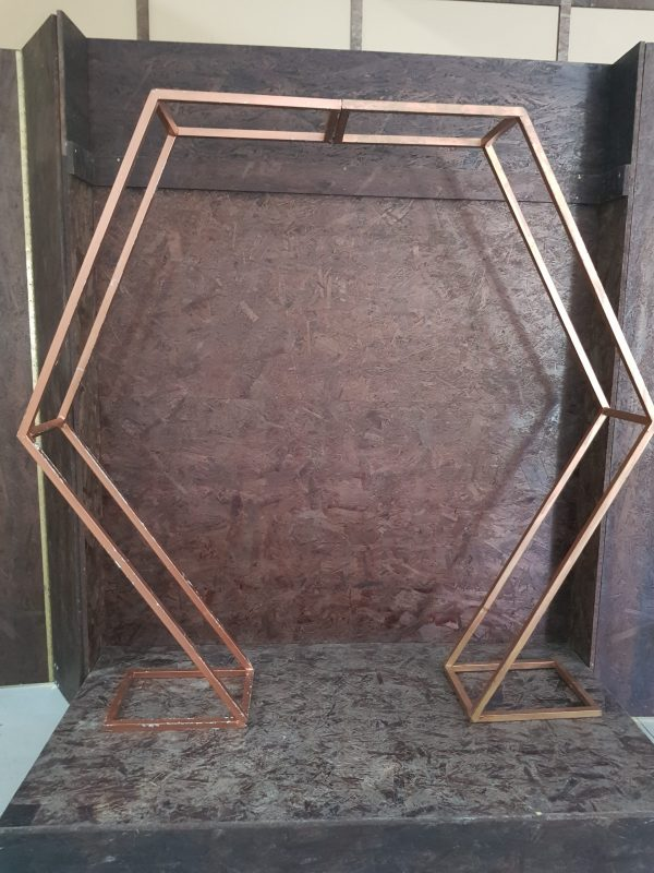 Rose Gold Hexagon Arch