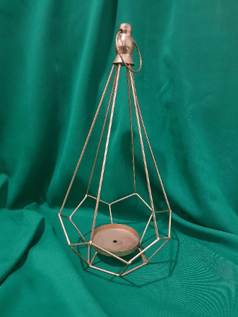 Gold Pyramid Candle Holder 40cm G557